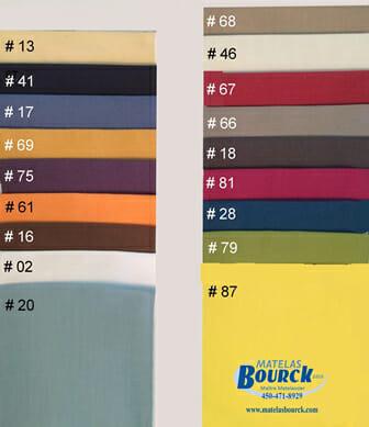 Choix de couleurs Draps de Percale