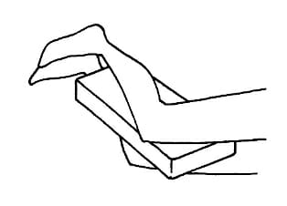 Coussin d'appoint orthoforme pour les genoux