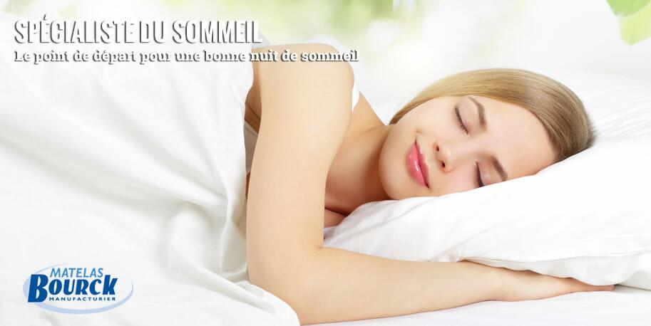 Point de départ pour une bonne nuit de sommeil