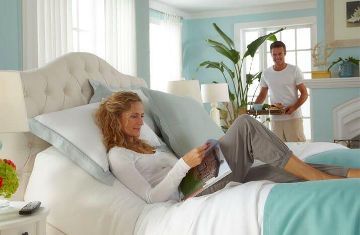 Lit ajustable également disponible pour les couples